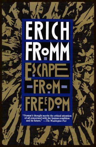 """Portada de la edición de 1994 de """"Escape from Freedom"""", por Erich Fromm"""