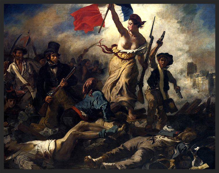 Eugène Delacroix - La Libertad guiando al pueblo